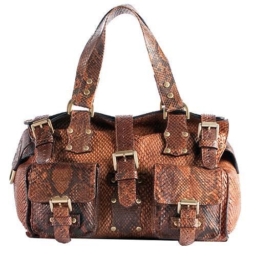 Mulberry Oak King  Roxanne  Python Satchel Handbag 494af59aba135