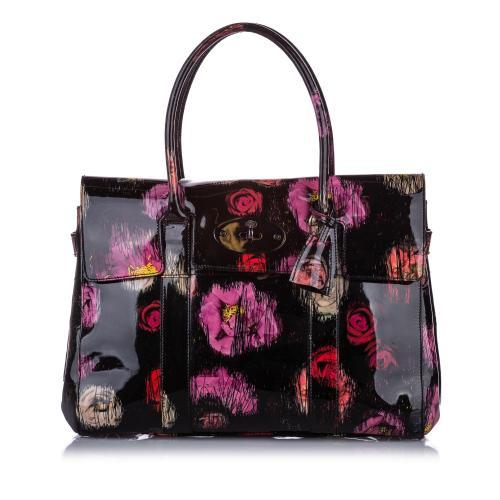 Mulberry Printed Bayswater Patent Leather Handbag