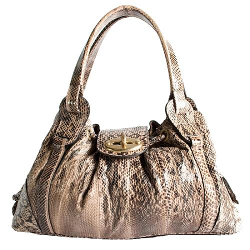 Mulberry Snakeskin Agyness Satchel Handbag