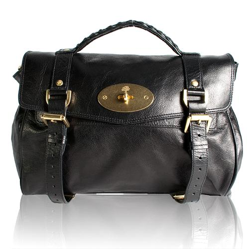 Mulberry Soft Buffalo Leather Oversized Alexa Satchel Handbag