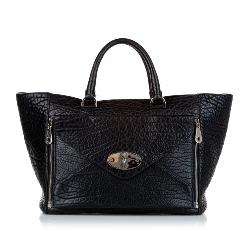Mulberry Willow Leather Tote Bag