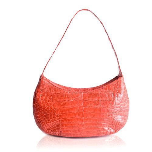 Nancy Gonzalez Crocodile Pochette Shoulder Handbag