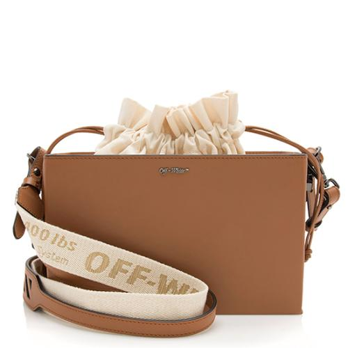 Off-White Leather Boxy Shoulder Bag