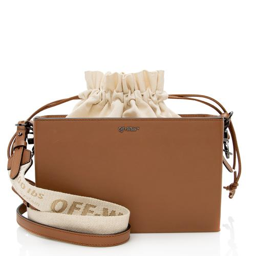 Off-White Leather Boxy Shoulder Bag