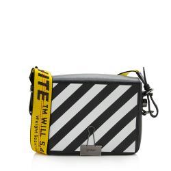 Off-White Leather Diag Mini Crossbody Bag