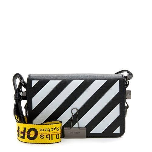a4ae3bc91 Off-White Leather Diag Mini Flap Bag