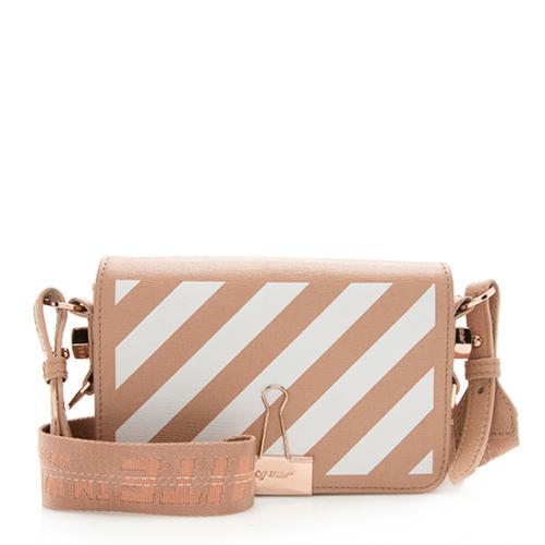 Off-White Leather Diag Mini Flap Bag