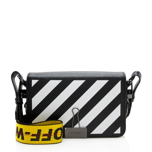 Off-White Leather Diag Mini Flap Bag