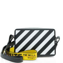 Off-White Leather Diag Belt Bag