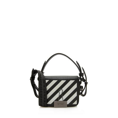 Off-White Leather Diagonal Stripe Baby Shoulder Bag