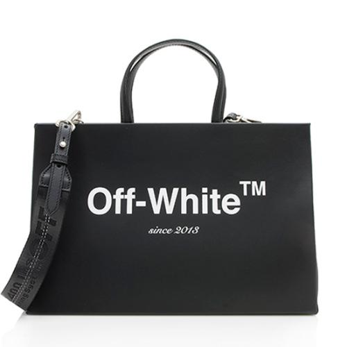 Off-White Leather Medium Box Bag
