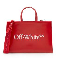 Off-White Leather Mini Box Bag
