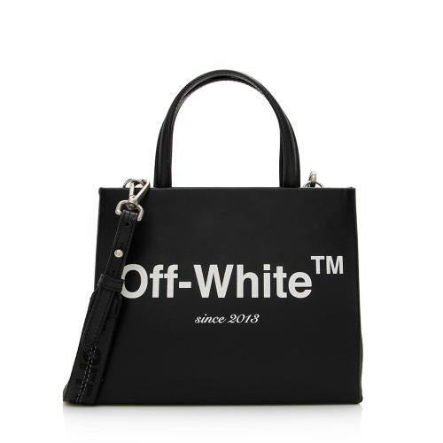 Off-White Leather Mini Box Bag