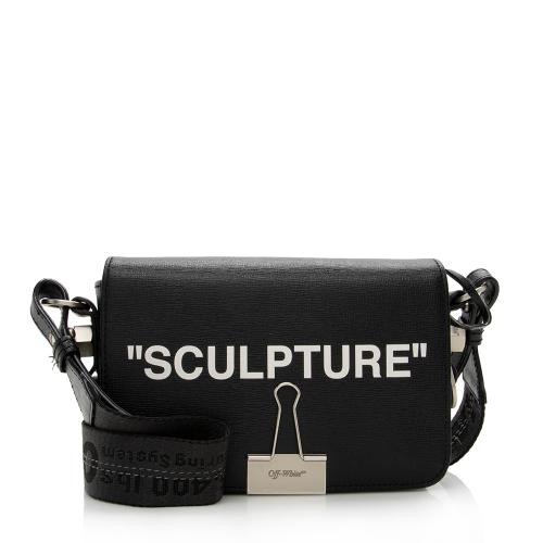 Off-White Leather Sculpture Crossbody Bag