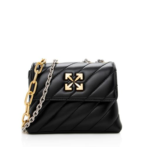 Off-White Quilted Leather Jackhammer 19 Chain Shoulder Bag