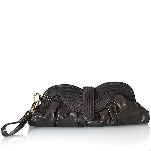 Perlina Knotted Up East/West Clutch