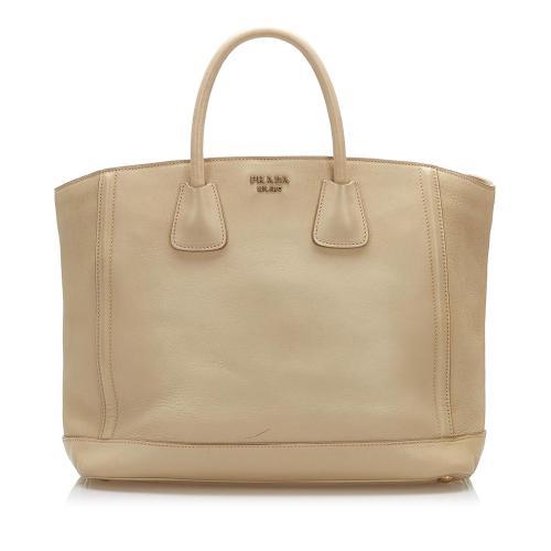 Prada Argilla City Calf Tote Bag