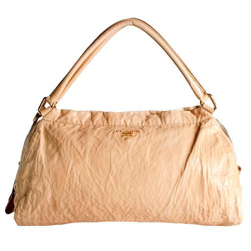 Prada Bauletto Nappa Antique Shoulder Handbag