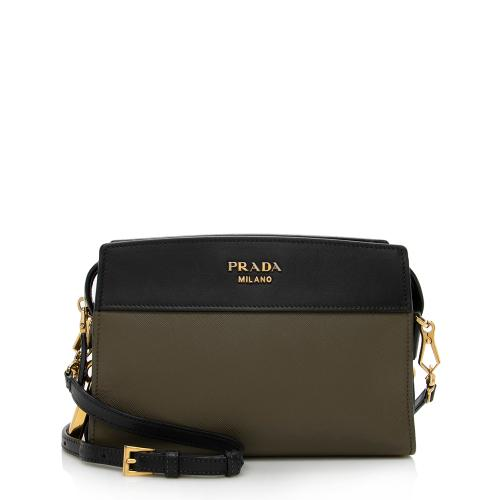 Prada Bicolor Saffiano Leather Camera Shoulder Bag