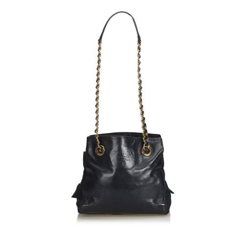Prada Calfskin Chain Shoulder Bag