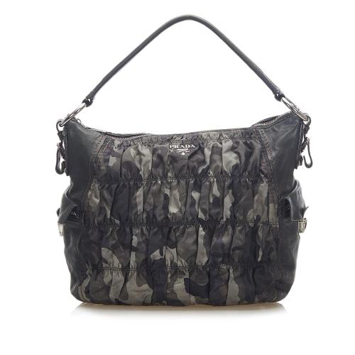 Prada Camouflage Tessuto Gaufre Tote Bag