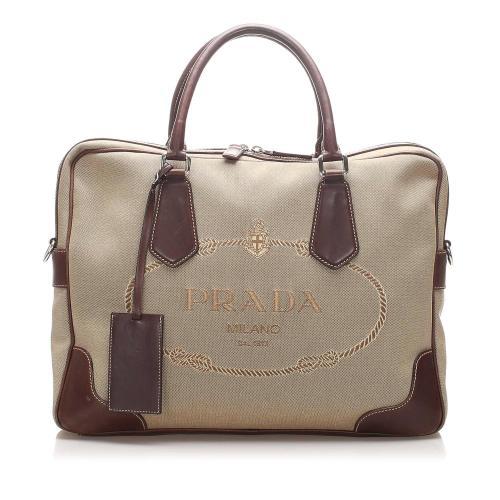 Prada Canapa Canvas Briefcase