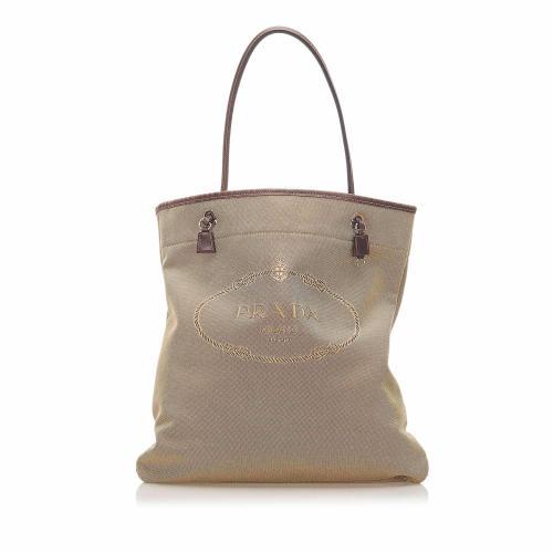 Prada Canapa Canvas Tote Bag