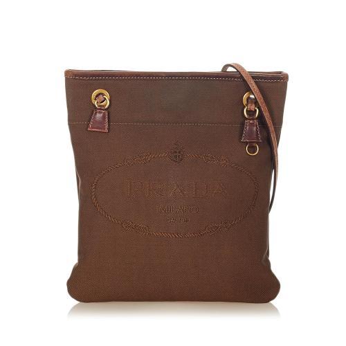 Prada Canapa Logo Crossbody Bag