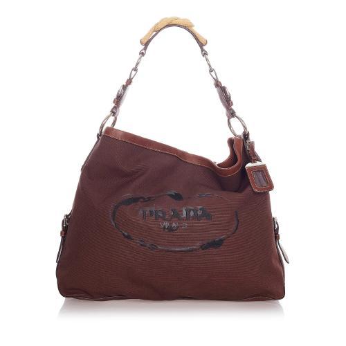 Prada Canapa Logo Nylon Shoulder Bag