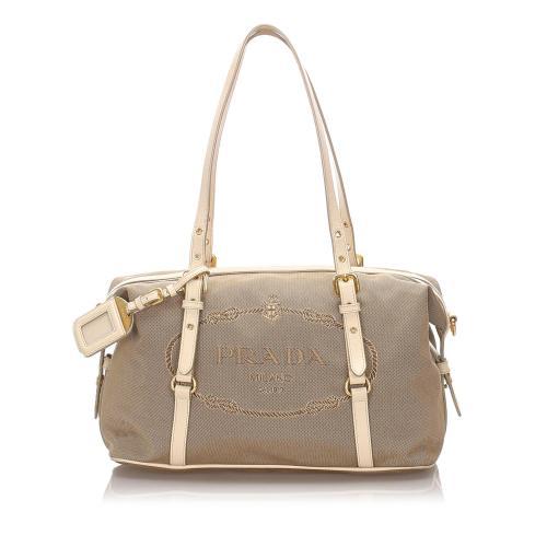Prada Canapa Shoulder Bag