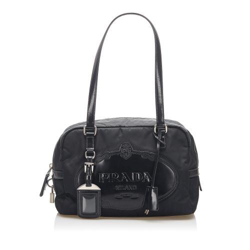 Prada Canapa Tessuto Shoulder Bag