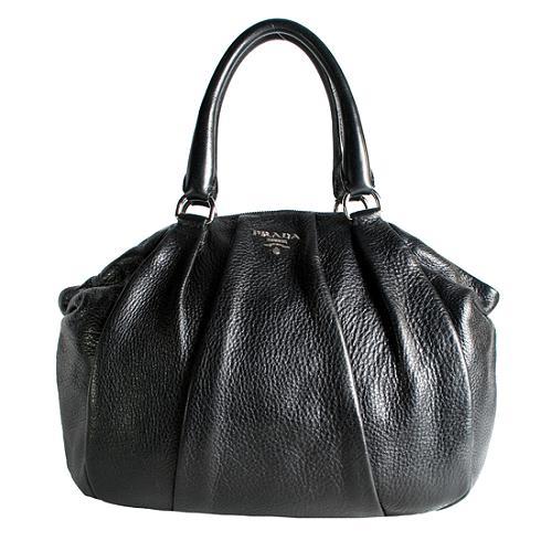 Prada Cervo Antik Bowler Satchel Handbag