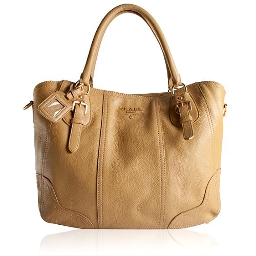 Prada Cervo Antik Leather Tote