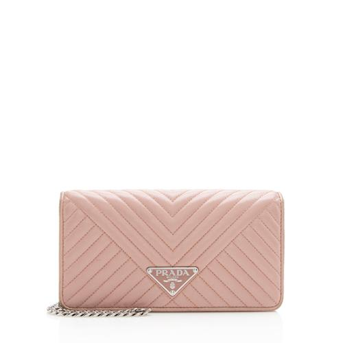 Prada Chevron Calfskin Diagramme Envelope Mini Shoulder Bag