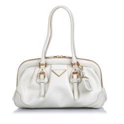 Prada Leather Cinghiale Frame Shoulder Bag