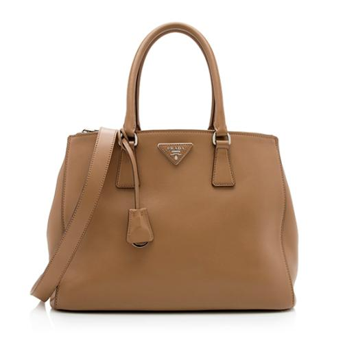 Prada City Calf Large Double-Zip Tote
