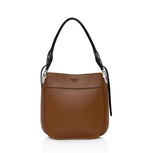 Prada City Calf Leather Margit Hobo