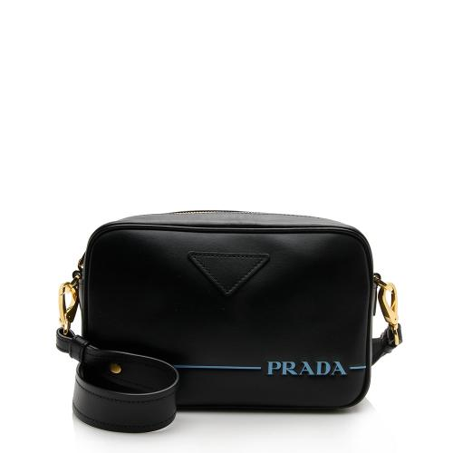 Prada City Calf Leather Mirage Camera Crossbody Bag