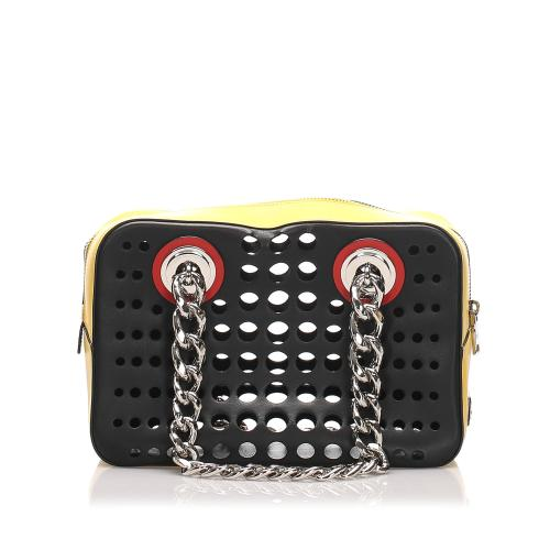Prada City Fori Perforated Shoulder Bag