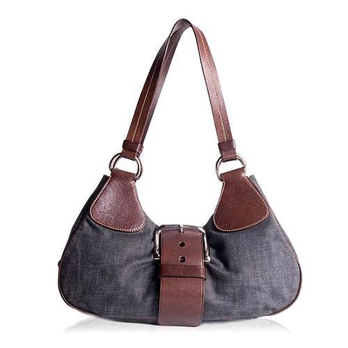 Prada Denim Easy Shoulder Handbag
