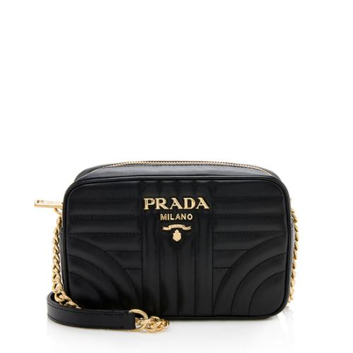 Prada Calfskin Diagramme Camera Bag