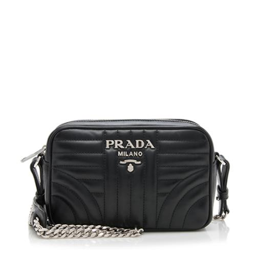 Prada Calfskin Diagramme Crossbody Bag