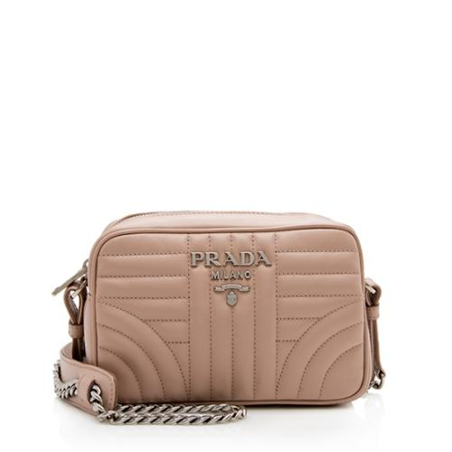 Prada Diagramme Calfskin Crossbody Bag