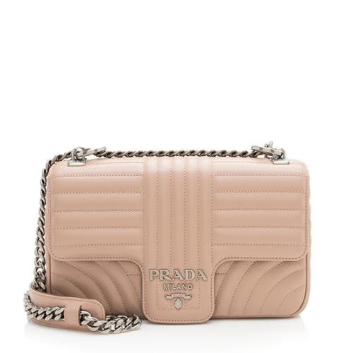 Prada Calfskin Diagramme Flap Medium Shoulder Bag