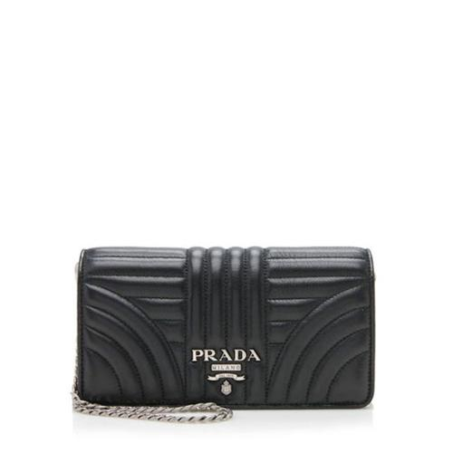 Prada Calfskin Diagramme Mini Bag