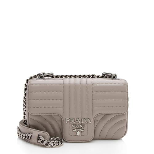 Prada Calfskin Diagramme Flap Small Shoulder Bag