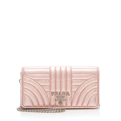 Prada Calfskin Metallic Diagramme Mini Bag