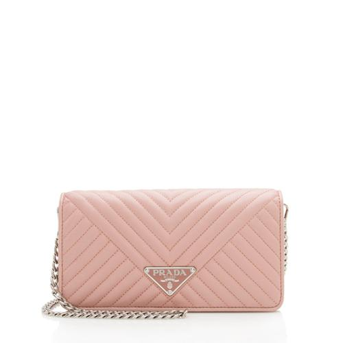 Prada Diagramme Mini Envelope Shoulder Bag