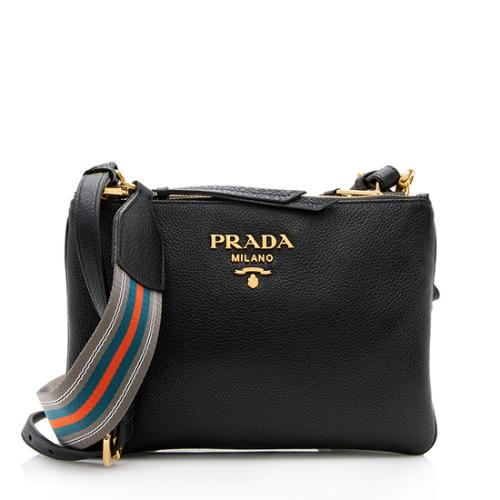 Prada Vitello Diano Leather Crossbody Bag