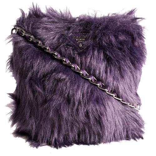 Prada Eco Pelliccia Faux Fur Crossbody Shoulder Handbag